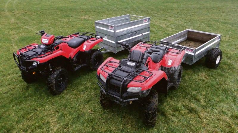 Een Honda ATV is van alle markten thuis!